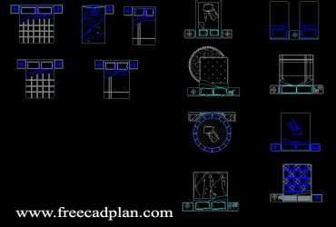 Bed CAD Block Collection