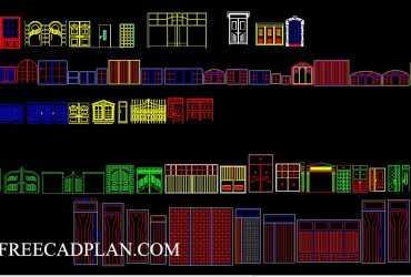 Door and Windows Block Collection DWG
