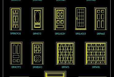 door cad blocks