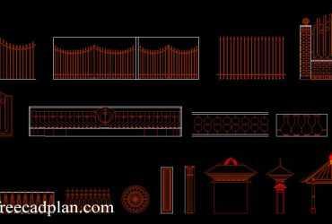 2D fences dwg CAD