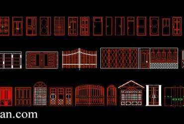 2D Gates and Door CAD Blocks