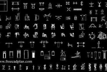 gym equipment cad blocks