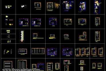 Hospital furniture CAD Blocks