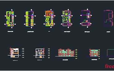 Sports recreation plan in autocad