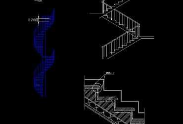 free stair cad block with details