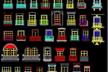 balcony dwg cad blocks