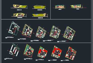 digital library plan in autocad