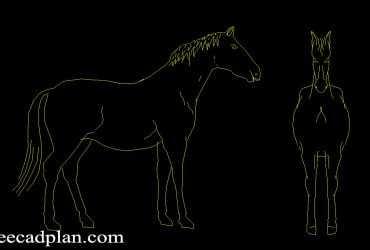horse dwg cad blocks