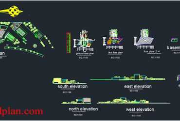motel dwg plans in autocad