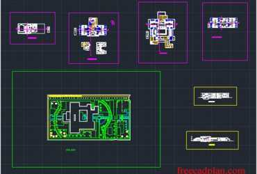 Retirement home in autocad