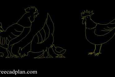 Rooster dwg cad
