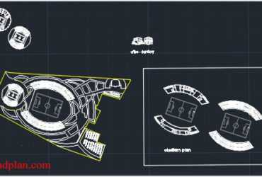 stadium dwg plan in autocad