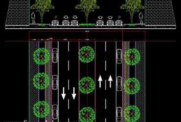 street design in autocad