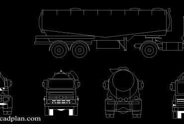 tanker truck cad block