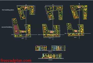 Municipality Building dwg plan