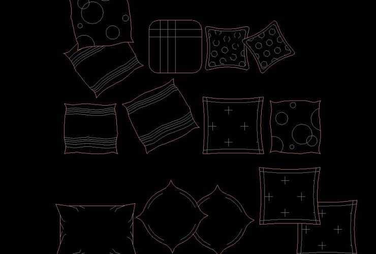 Pillow DWG CAD Block