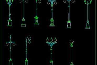Street Lamp CAD Block