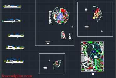 Cultural arts center dwg plans