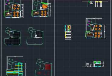 fastfood dwg plans