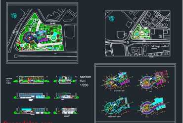 Green Hotel in AutoCAD