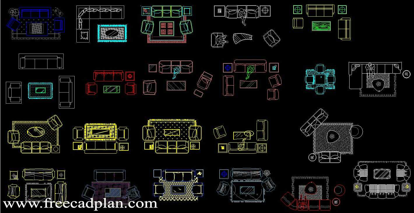 Living Room Dwg Cad Blocks Free Download Free Cad Plan