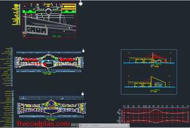 Railway Station dwg project