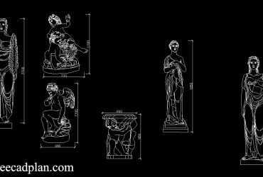 Statues CAD block Download