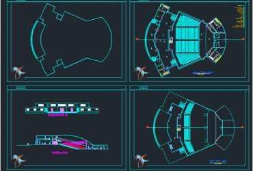 Amphitheater dwg cad plan