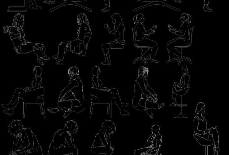 girl , women sitting cad block