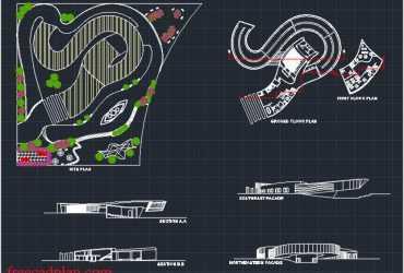 Music museum dwg plan