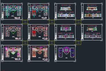 Office building dwg plan