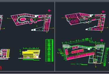 Shopping mall plan in AutoCAD