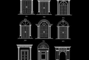 Ancient Doors dwg cad block