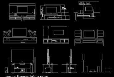 Home theater DWG CAD Block