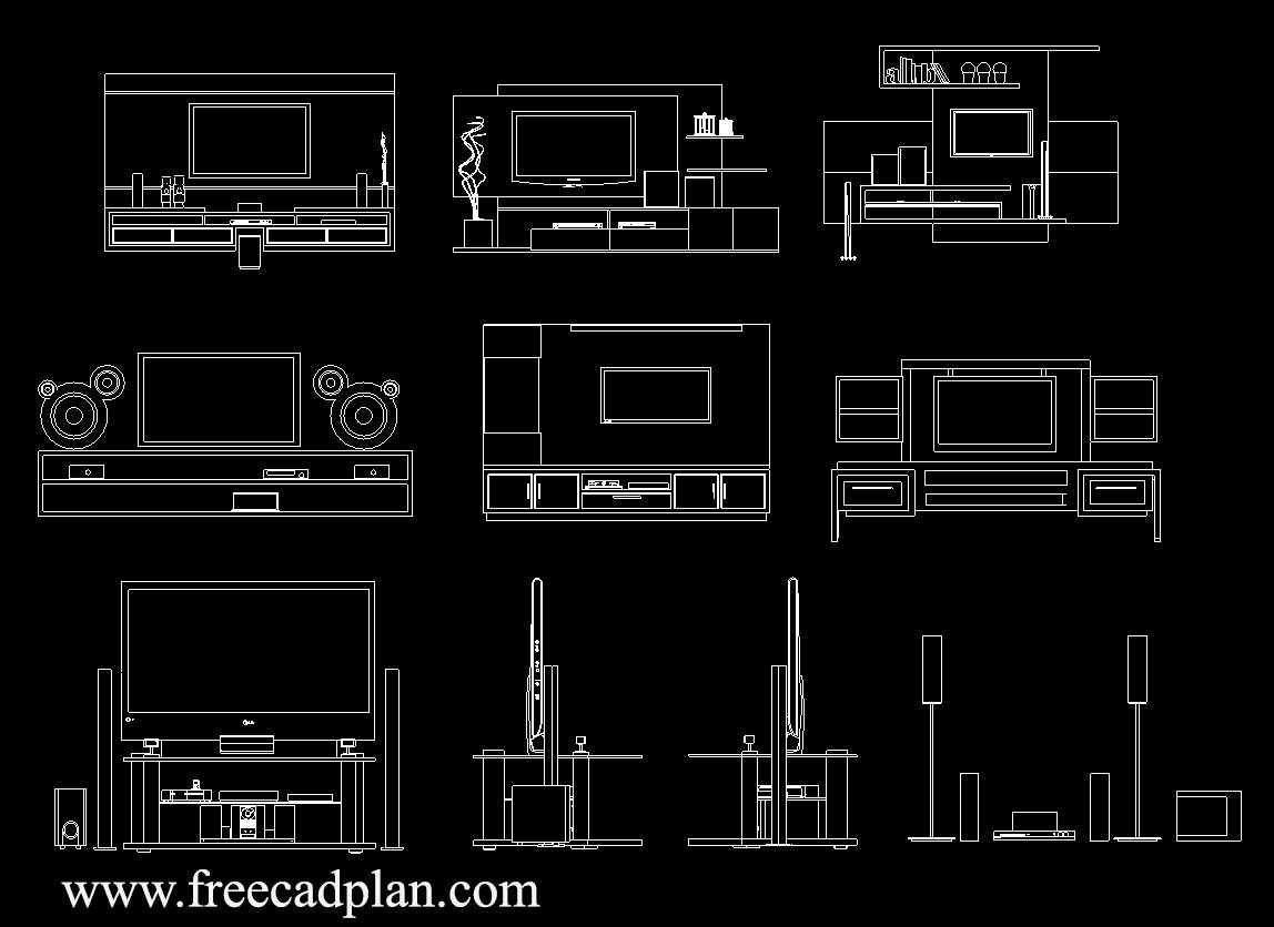 Home Theater Dwg Cad Block In Autocad Free Download Free Cad Plan