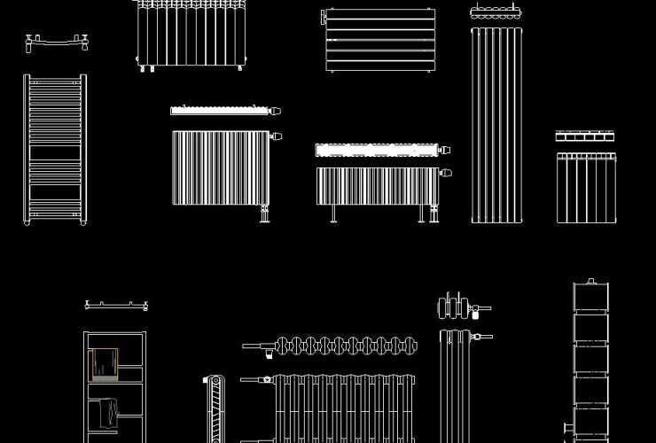 Radiator DWG CAD Block