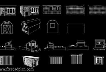 Shed dwg cad block