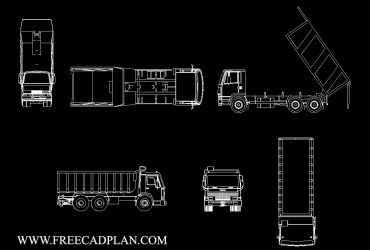 Tipper , Dump Truck DWG