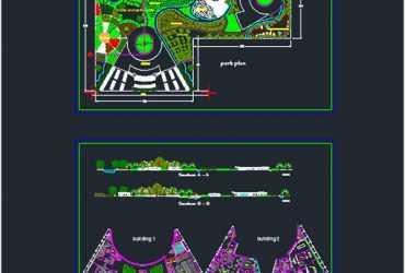 Botanic Park dwg plan