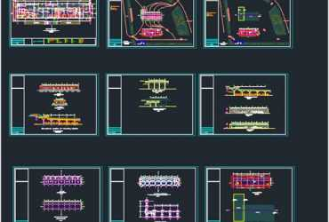 Gas station dwg plan in Autocad