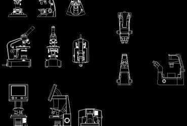 Microscope DWG CAD Block