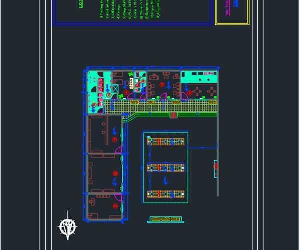 Petrol station dwg floor plan