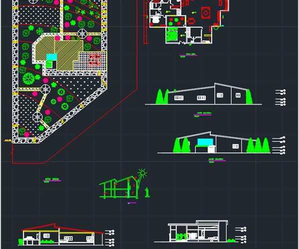 Rural House dwg plan