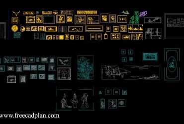 wall painting dwg cad block