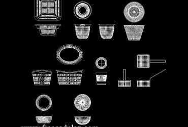 Basket DWG CAD Block