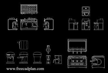 Coffee machine DWG CAD Block
