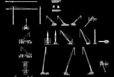 Cranes DWG CAD Block