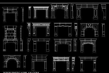 Fireplace DWG CAD Block