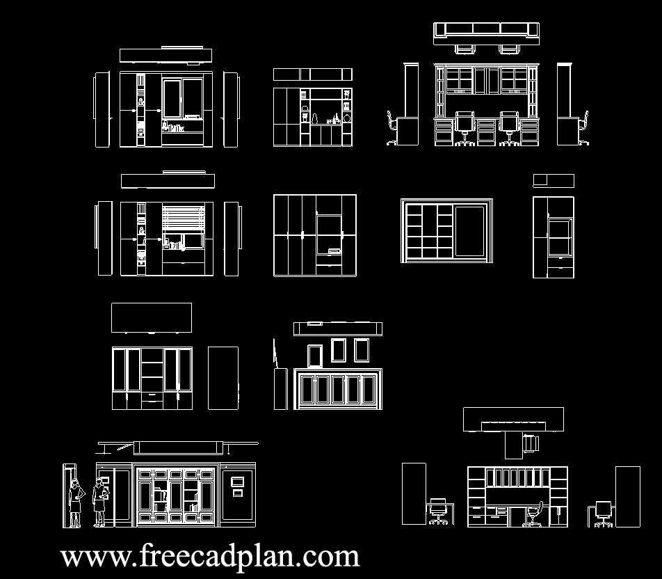 Office Cabinet Dwg Cad Block In Autocad Download Free Cad Plan