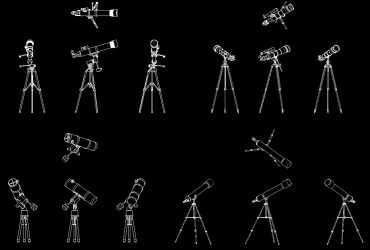Telescope DWG CAD Block